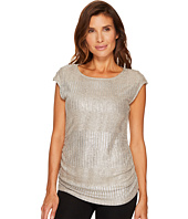 Calvin Klein - Sleeveless Metallic Top with Buttons