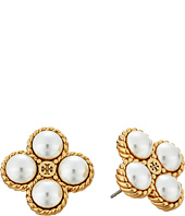 Tory Burch - Rope Clover Pearl Stud Earrings