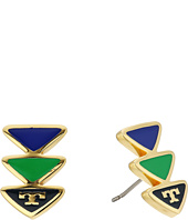 Tory Burch - Geo Triangle Stud Earrings