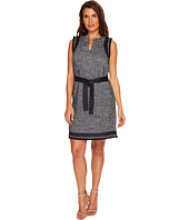 Ellen Tracy - Split-Neck Shift Dress