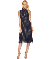 Taylor - Mock Neck Polka Dot Midi