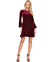 Taylor - Floral Velvet Burnout Shift Dress