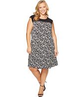 Calvin Klein Plus - Plus Size Sleeveless Print Dress with Zipper Yoke