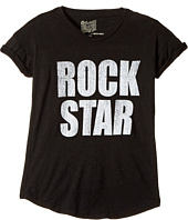 The Original Retro Brand Kids - Rock Star Short Sleeve Cotton Slub Rolled Sleeve Tee (Big Kids)