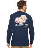 Vineyard Vines - Long Sleeve Turkey Whale Pocket Tee