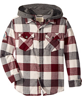 Lucky Brand Kids - Long Sleeve Flannel Shirt w/ Hood (Big Kids)