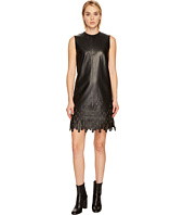 Versace Collection - Leather w/ Fringe Dress