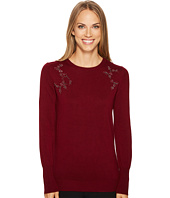 Ivanka Trump - Crew Neck Embelished Sweater
