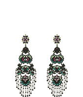 Steve Madden - Casted Flower Tassel Post Earrings