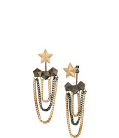 Steve Madden - Star Hexagon Tassel Post Earrings
