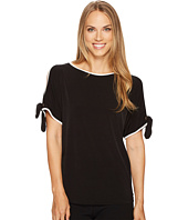 Ivanka Trump - Matte Jersey Cold Shoulder Shirt