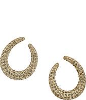 Nina - Front To Back Pave Hoop Swarovski Stones Earrings