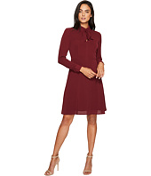 Maggy London - Catalina Crepe Fit and Flare with Tie Neck