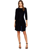 Donna Morgan - Isabel 3/4 Sleeve A-Line Dress with Circle Flounce