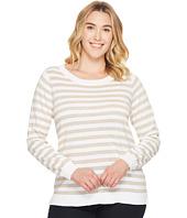 MICHAEL Michael Kors - Plus Size Lurex Stripe Sweater