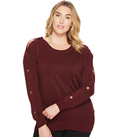 MICHAEL Michael Kors - Plus Size Lurex Button Sweater