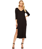 Three Dots - Double V Hi Low Slit Dress