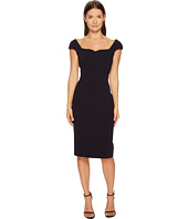 Zac Posen - Bonded Crepe Cap Sleeve Sweetheart Dress