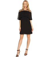 CeCe - Taylor - Popover Lattice Chiffon Dress