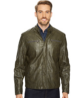 Kenneth Cole New York - PU Jacket with Tab Collar Detail