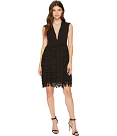 Aidan Mattox - Crepe and Sequin Fringe Dress