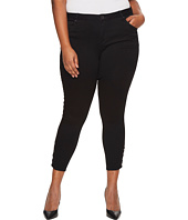 KUT from the Kloth - Plus Size Connie Ankle Skinny Snaps Side Legs in Black