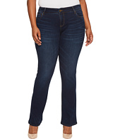 KUT from the Kloth - Plus Size Natalie High-Rise Bootcut in Closeness/Euro Base Wash