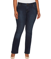 KUT from the Kloth - Plus Size Natalie High-Rise Bootcut in Beneficial/Euro Base Wash