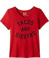 The Original Retro Brand Kids - Tacos & Siestas Short Sleeve V-Neck (Big Kids)