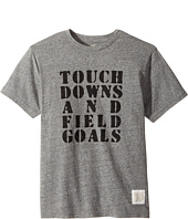 The Original Retro Brand Kids - Touchdowns & Field Goals Short Sleeve Tri-Blend Tee (Big Kids)