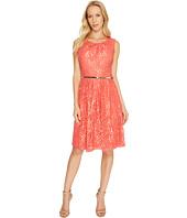 Ellen Tracy - Coral Lace Dress