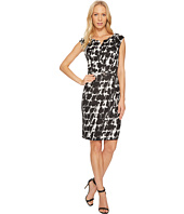 Ellen Tracy - Black and White Printed Sheath Dress