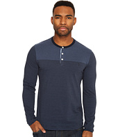 Original Penguin - Long Sleeve Engineered Feeder Stripe Polo Heritage