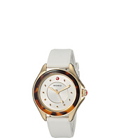 Michele - The Cape Gold-Plated Stainless Steel White Silicone Strap