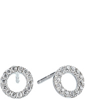 SHASHI - Circle Pave Stud Earrings