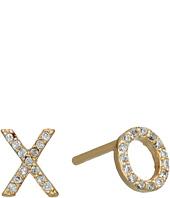 SHASHI - XO Pave Stud Earrings