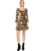 Jeremy Scott - Brocade Printed Velvet Mini Dress
