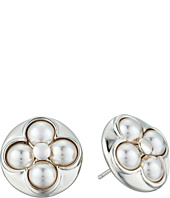 Majorica - 6mm Round Luck Sterling Silver Stud Earrings