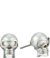 Majorica - 8mm Round Skull Stud Earrings