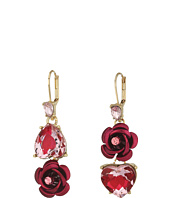 Betsey Johnson - Pink and Gold Non-Matching Heart Earrings