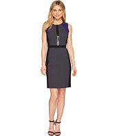 Tahari by ASL - Zipper Bodice Color Block Dress
