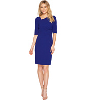 Tahari by ASL - Asymmetric Sleeved Sheath Dress