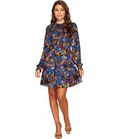 ROMEO & JULIET COUTURE - Flit and Flare Printed Dress with Keyhole Back