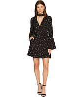 J.O.A. - Star Choker Neck Wrap Dress