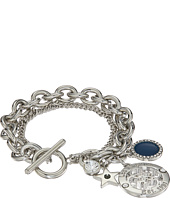 GUESS - Double Row Toggle Bracelet with Charms On The Ends