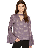 J.O.A. - Choker Neck Bell Sleeve Top