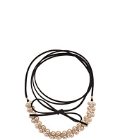 GUESS - Wrap Look Pearl Tie Choker Necklace