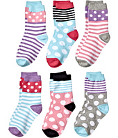 Jefferies Socks - Dots and Stripes Crew 6-Pack (Toddler/Little Kid/Big Kid)