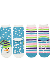 Jefferies Socks - Snowman Fuzzy Slipper Socks 2-Pack (Toddler/Little Kid/Big Kid)