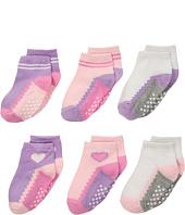 Jefferies Socks - Non-Skid Ankle Quarter 6-Pack (Infant/Toddler)